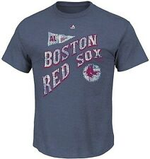 Boston Red Sox Majestic At Our Place Navy Heather Men's T Shirt Big & Tall Sizes