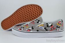 VANS CLASSIC SLIP-ON DISNEY CLASSIC MICKEY MOUSE FROST GRAY/BLACK/RED WOMEN SIZE