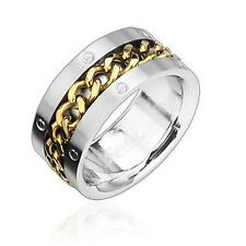 mens ladies Ring silver gold Chains 7 Size Stainless steel NEW JEWELRY