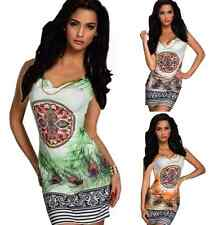 Womens Summer Sexy Sleeveless Casual Party Evening Cocktail Short Mini Dress New