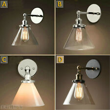 Vintage Industrial Modern Contemporary Glass Sconce Wall Lights shade Edison
