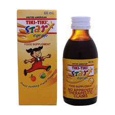United American TikiTiki Vitamins Syrup Kids Ages 1-12 Weight Gainer Rice Bran