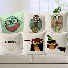 Linen Decorative Animals Cushion Cover Shell Bed Sofa Bedding Throw Pillow Case