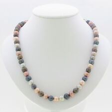 7-8MM MULTI-COLOR GENUINE FRESHWATER CULTURED PEARLS NECKLACE 925 SILVER CLASP