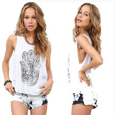 Sexy Summer Women Casual Sleeveless Shirt Loose Vest Tank Top Blouse NEW