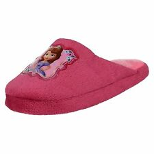 GIRLS SOPHIA DARK PINK MULE SLIPPERS- CC