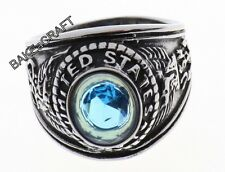 MEN'S STAINLESS STEEL UNITED STATES MILITARY NAVY RING - CHOOSE SIZE