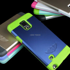 For Samsung Galaxy Note 4 Tough Hybrid Armor Protective TPU Slim Hard Case Cover