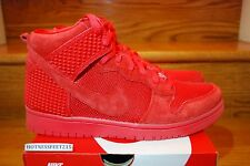 Nike Dunk Hi CMFT Premium Light Red October 705433 601 New Men's Sz: 8-13