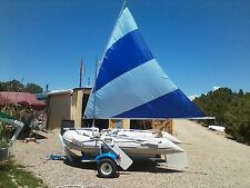 Inflatable Sail Boat + Trailer