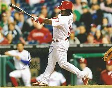 Philadelphia Phillies Odubel Herrera Autographed Signed Swing Photo JSA PSA