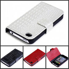 Croc Leather Design Wallet Purse Card Case Cover for iPhone 4/4s/5/5s/SE