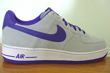 ORIGINAL MENS NIKE AIR FORCE ONE 1 AF 1  TRAINERS UK SIZE 6 - 10   GREY / PURPLE