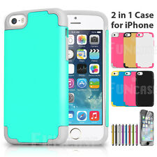 Shockproof Rugged Hybrid Rubber Hard Cover Case For Apple iPhone 5 5S