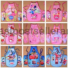 2 Layers Kid Boy Girl Child Water Proof Feeding Sands Bib Apron Art Paint Smock