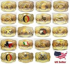Western Style Cowboy Rodeo Gold Large Belt Buckle Multiple Choice Buckles