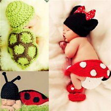 Newborn Baby Girl Boy Crochet Costume Outfit Photo Photography Prop Birthday Hat