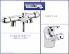 Thermostatic Bath Shower Mixer Tap And Basin Tap Deluxe Slider Multi List