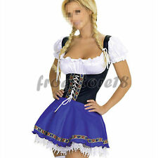 Sexy Oktoberfest Beer Maid Wench German Bavarian Fancy Dress Costume Outfit 6-18