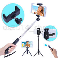 Bluetooth Selfie Stick Monopod Tripod USB Zoom Shutter For Samsung iPhone Mirror
