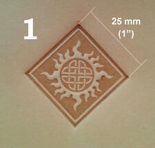 Plastic Celtic Emboss Plate. Various Sizes. For Stamping Veg Tan Tooling Leather