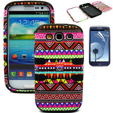 Tribal Pattern Hybrid Rugged Rubber Case Cover For SAMSUNG GALAXY S III S3 i9300