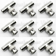 BNC Male To Dual Female T-Splitter Barrel Connector Adapter For CCTV Camera