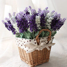 10pcs Real Touch Latex Lavender Flower For Wedding Bouquet Decor Home Room Decor