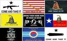 MILITARY FLAGS 3X 5FT Pow, Gadson, Gonzales, First Navy Jack, Dont Tread On Me