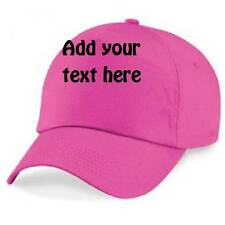 KIDS BASEBALL CAP  KIDS  GIRLS   21 COLOURS BNWT PERSONALISED WITH YOUR TEXT