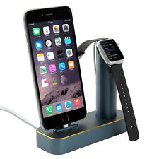 Aluminium Ladestation Für Apple Watch iPhone 6 5 Halterung Dock Dockingstation