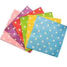 20 Colorful Polka Dot Virgin Wood Paper Napkins For Party Decoration 33cm 2 Ply