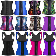 Latex Rubber Coloured Waist Training Trainer Cincher Underbust Corset Shapewear