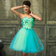 Short Graduation Cocktail Evening Gown Party Bridesmaid Wedding PROM Tulle Dress