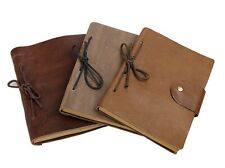 Vintage Journal Diary Blank Sketchbook Book Binder Genuine leather Cover Case