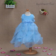 New 2015 Flower Girls Party dress Pageant Wedding dress formal special occasion