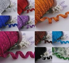 10y Solid Color Gillter Velvet Ribbon Wedding Party Supply Decor Crafts RG024