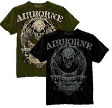"NEW US Army Airborne ""Death from Above"" Military Slim Fit Vintage Style T-Shirt"
