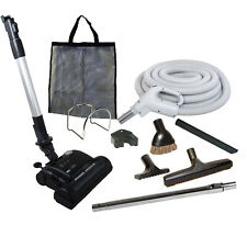 30' Central Vacuum Kit w/Hose, Power Head & Tools Beam Electrolux Nutone BK