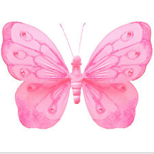 Hanging Butterflies Dk Pink Fuchsia Nursery Wall Ceiling Hanging Butterfly Decor