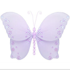 Butterfly Decoration Purple Lavender Hanging Wall Nylon Nursery Baby Bathroom