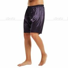 Mens Silk Satin Pajamas Pyjamas Shorts/Pants  Lounge Shorts Boxer Free p&p S~3XL