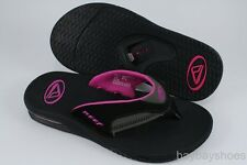 REEF FANNING BLACK/GRAY/BERRY PINK PURPLE FLIP FLOPS THONG SANDALS WOMEN SIZES