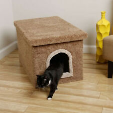 Beige Cat Box Condos Litter Enclosure Hidden Covered Removable Lid Furniture NEW