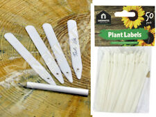 Pack of 50 White Garden Pot Seed Plant Label Markers with Pencil