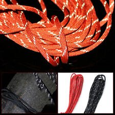 Reflective 250 Paracord Dacron 7 Core Strand Parachute Cord 25/50/75/100FT Rope
