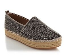 NWB STEVE MADDEN 'CHOPUR' STUDDED ESPADRILLES WOMENS SHOES STUDDED PEWTER