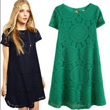 Summer Womens Crochet Floral Party Evening Cocktail Casual Short Lace Mini Dress