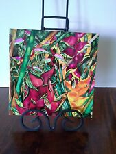 """Flower Ceramic Tile-""""Heliconia"""" Art by Candace Lee-Made in Hawaii-Trivet Art"""