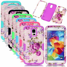 Flower Pattern Silicone Shockproof Combo Matte Case For Samsung Galaxy S Series